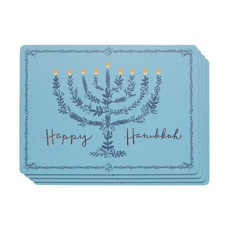Now Designs Happy Hanukkah Cork Backed Placemat Set of4