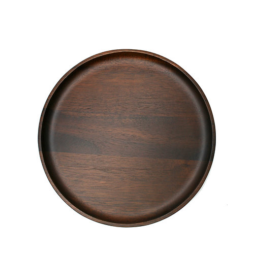 Danes Dark Acacia Plate 25cm