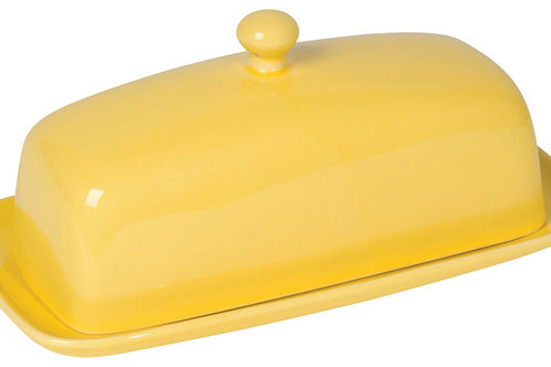 Now Designs Rectangle Butter Dish in LEMON