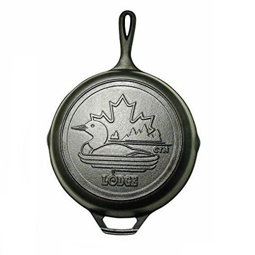 """Lodge 10.25"""" Cast Iron Limited Edition Loon Skillet"""
