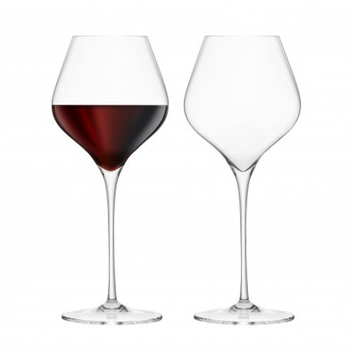 Final Touch Set of 2 Burgundy Glasses