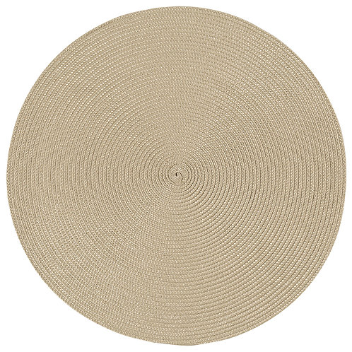 Now Designs Disko Place mat in LIGHT TAUPE