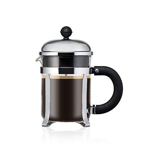 BODUM CHAMBORD® coffee press w/santoprene handle & knob, 4 cup, 0.5 l, 17 oz