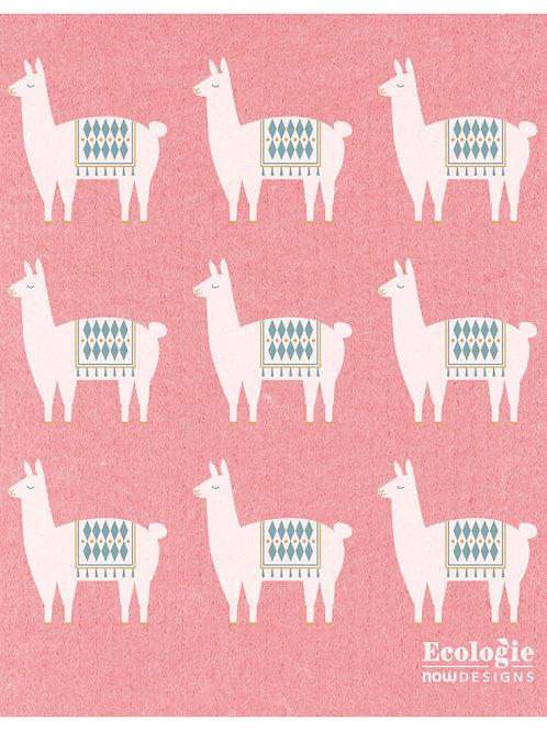 Now Designs Lupe  Llama Swedish Sponge Dishcloth