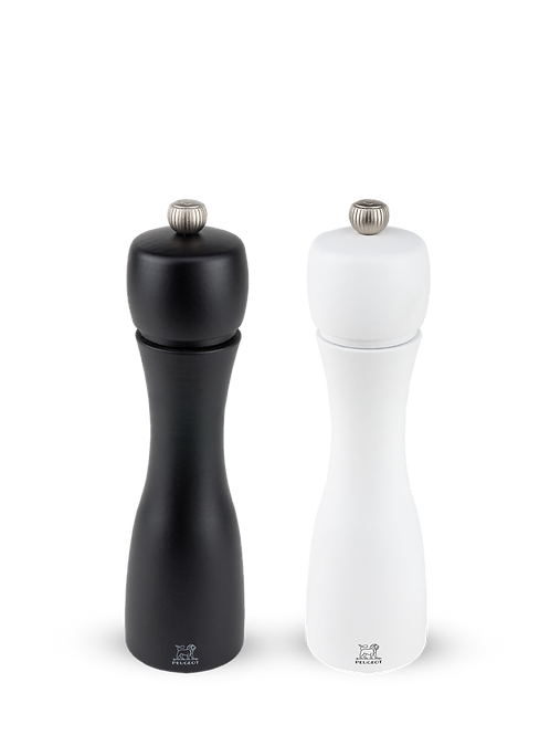 "Peugeot 8"" Tahiti Salt&Pepper Mill Set B&W"