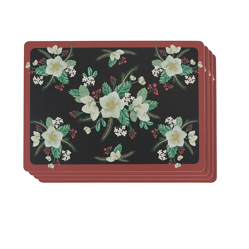 Now Designs Winterblossom Cork Backed Placemat Set Of 4
