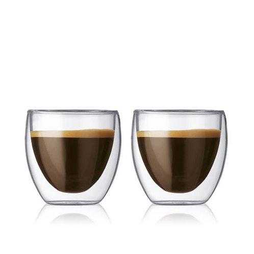 Bodum Pavina 2pc Double walled Glasses 2.5oz