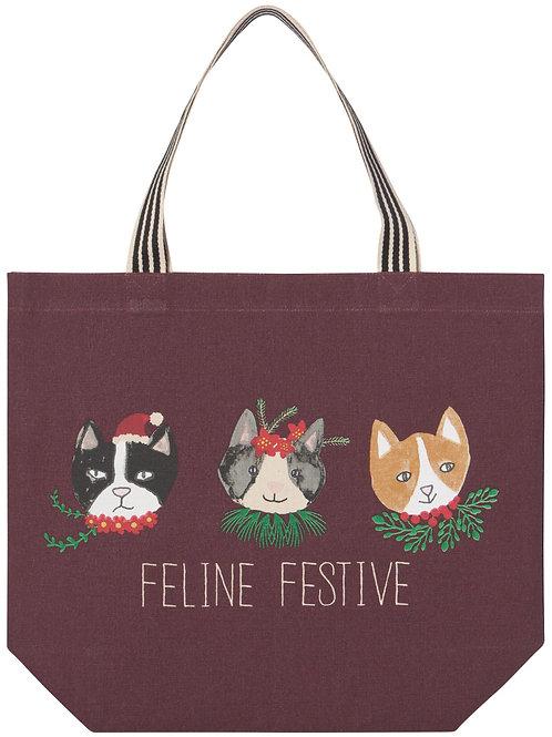 Now Designs Meowy Christmas Tote Bag