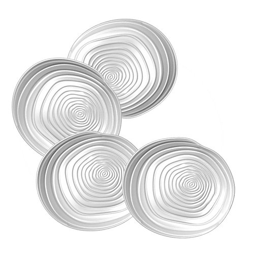 BIA Swirl Appetizer Plates 4pc