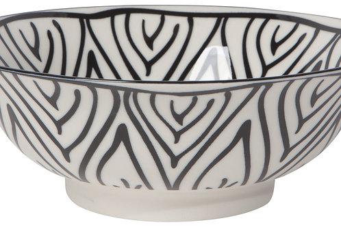 """Now Designs 8"""" Black Bloom Stamped Bowl"""
