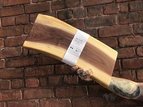 "Rustic Designs 20"" Walnut Serve Board"