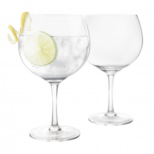 Final Touch Set of 2 Balloon Gin Glasses