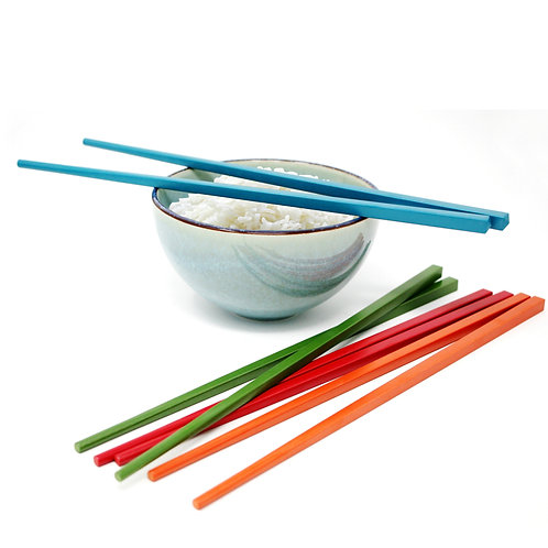 Zen Cuizine Reusable Chopsticks Multi-Colour 4 pack