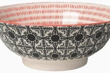 Now Designs 8' Stamped Bowl in BLACK TILE