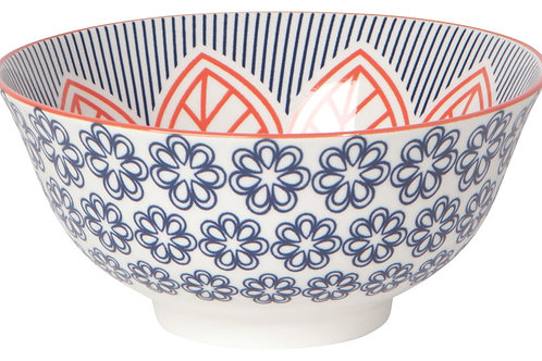 """Now Designs 6"""" Red Floral Stamped Bowl"""