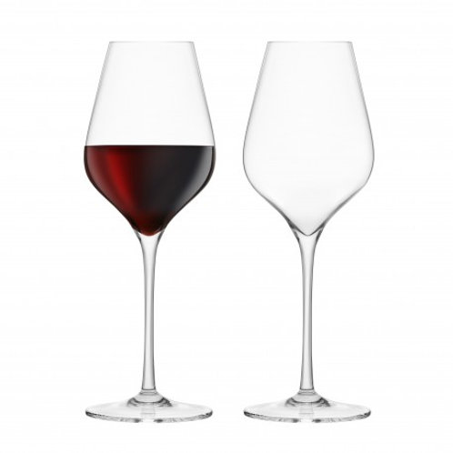 Final Touch Set of 2 Bordeaux Crystal Glasses