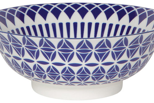 Now Designs 8' Stamped Bowl in BLUE GEO
