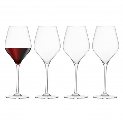 Final Touch Set of 4 Red Wine Crystal Glasses