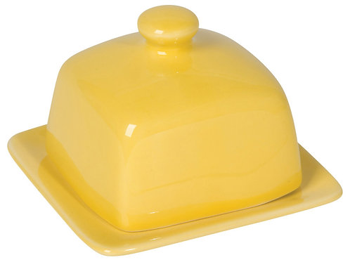 Now Designs Square Butter Dish in LEMON
