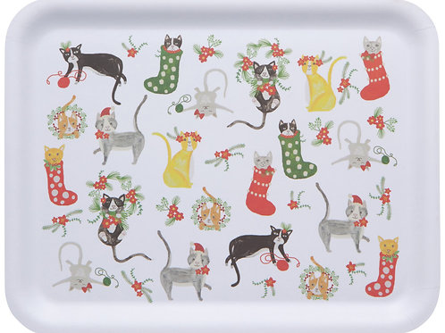 Now Designs Meowy Christmas 14' Tray