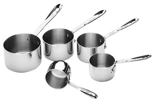 All Clad Stainless Steel 5 pc Measuring Cups Set