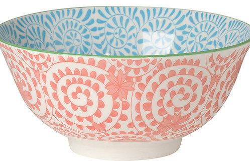 """Now Designs 6"""" Blue Swirls Stamped Bowl"""