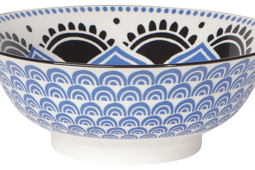 Now Designs 8' Stamped Bowl in BLUE FLORAL