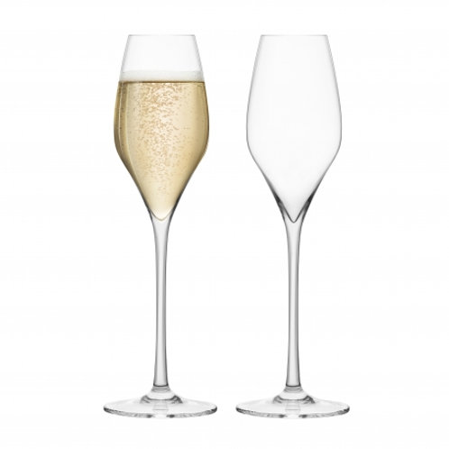 Final Touch Set of 2 Champagne Crystal Glasses
