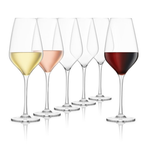 Final Touch 6pc Crystal Wine Glass Set