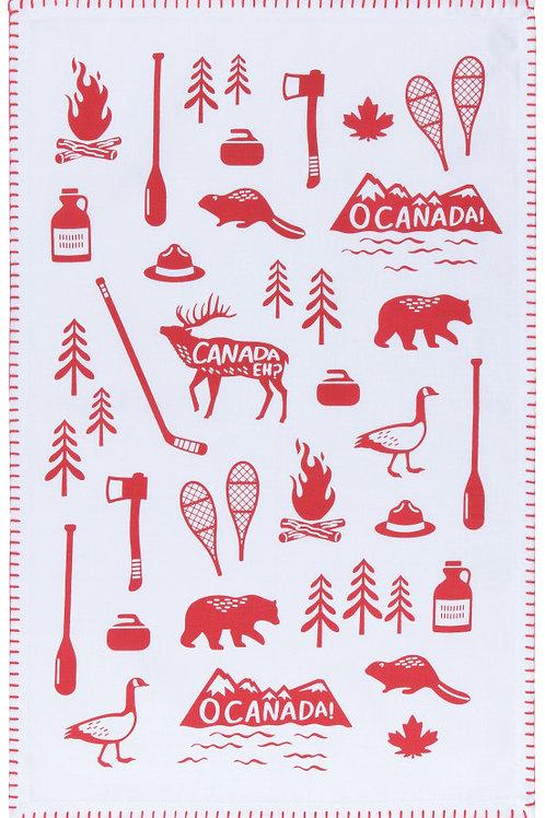 Now Designs Tea Towel O CANADA