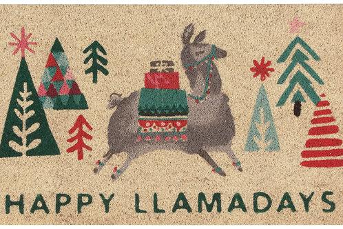 Now Designs Happy Llamadays Door Mat