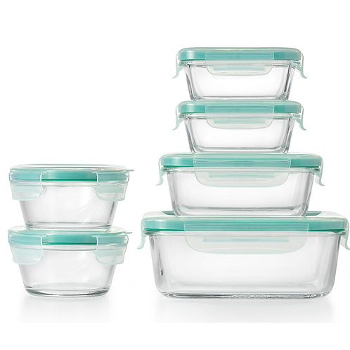OXO SmartSeal™ 12pc Glass Container Set