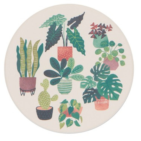 Now Designs Soak Up Coaster Set of 4 LET IT GROW