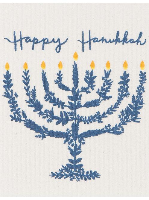 Now Designs Happy Hanukkah Swedish Dishcloth