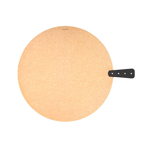 """Epicurean 17"""" Riveted Round Handy Board in Natural/Slate"""