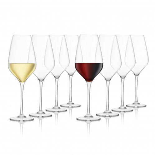 Final Touch Set of 8 Everyday Crystal Wine Glasses