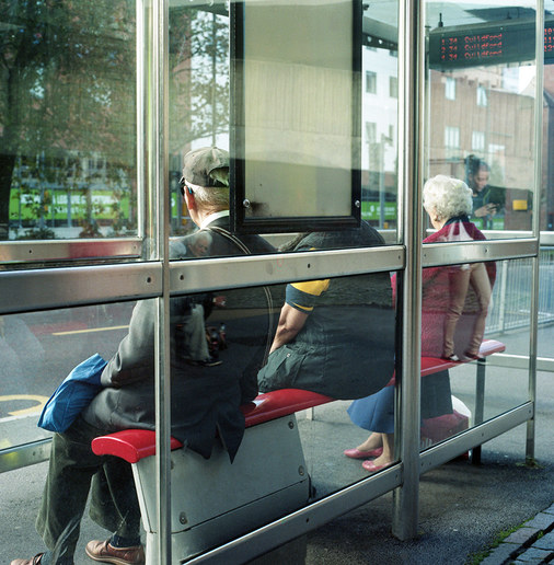 Bus Stop Red Seat
