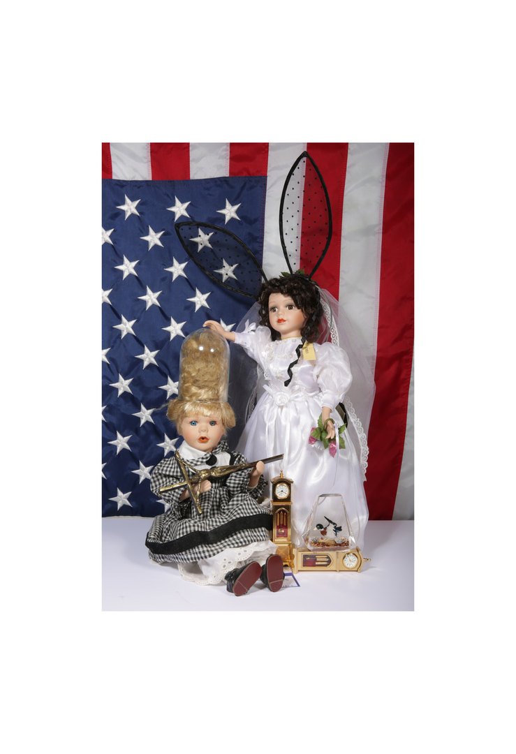Bunny Bride with US Flag