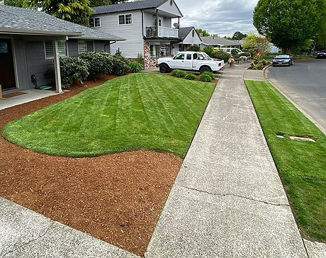 Mulch and pressure washing project on th