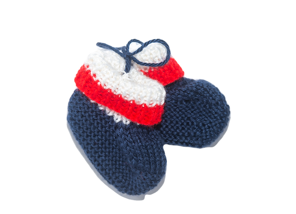 Baby Booties - Red, White & Blue