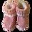 Thumbnail: Booties - Pink & White