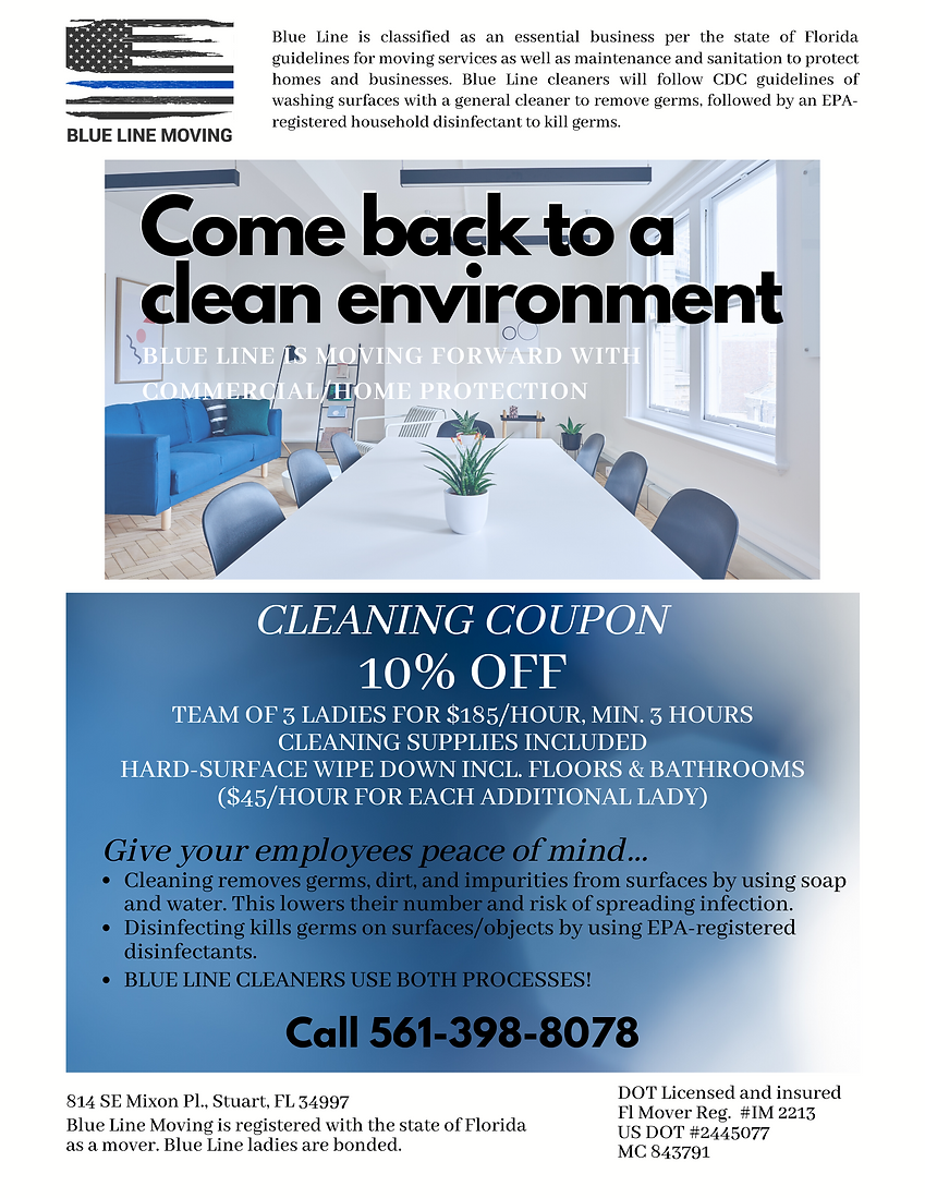 Cleaning coupon