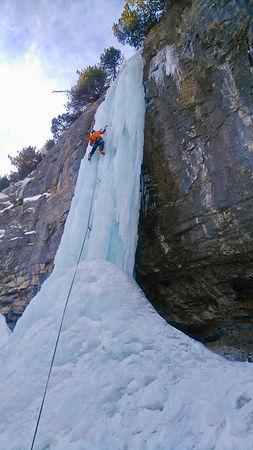 Cacsade de glace Hautes Alpes
