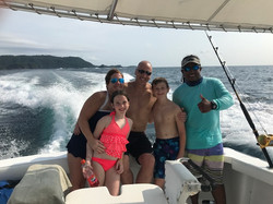 Happy Family after a day fishing and