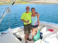 Married couple on a fishing charter