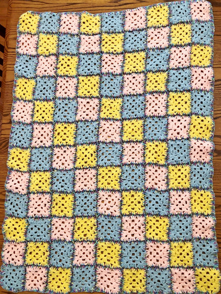 Baby Afghan: Granny Squares