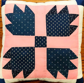 Matching pillow for Bear Claw wall hanging