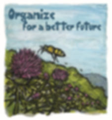 pandemic animals - organize bee 500x539.