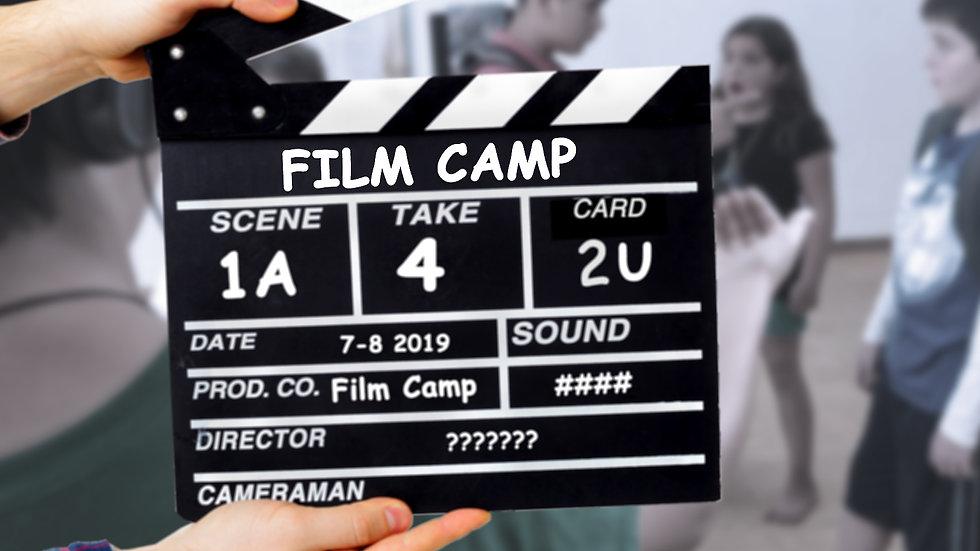 Film Camp (weeks 1, 2, & 3) 7/8 -7/27