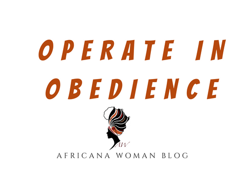 Operate in Obedience